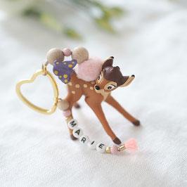 Schlüsselanhänger mit Wunschnamen Bambi