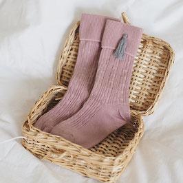 Strümpfe rosa light  Tassel grau