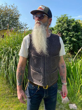 Browns Beach - Vest - oxford grey