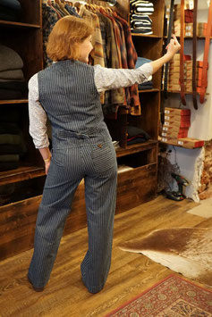 Captain Santors - Highwaist Hose - striped washed - women