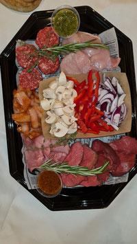 Gourmetschotel vlees p.p.