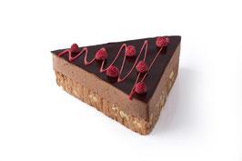 Chocolade framboos taart (bavarois)