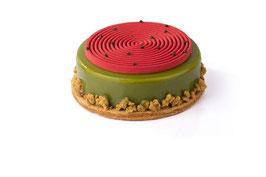 Gâteau pistache cherise (bavarois)