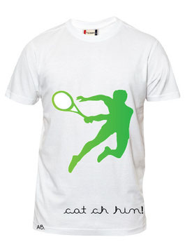 Tennis catch him