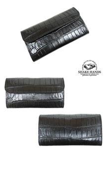 SHLW-qua【Crocodile×Saddle Pull Up Leather】
