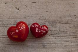 2 Herzen rot