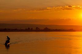 Boot bei Sonnenuntergang - Madagaskar 5