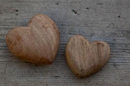 2 Herzen Holz