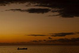 Boot bei Sonnenuntergang - Madagaskar 2