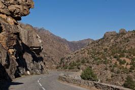 Bergstrasse in Korsika