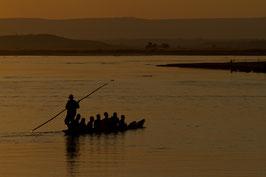 Boot bei Sonnenuntergang - Madagaskar 1