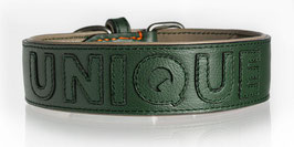 Nappa Halsband grün/grün individualisierbar