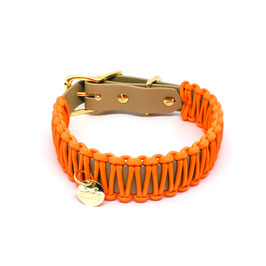 BIOTHANE PARACORD - COGNAC & ORANGE
