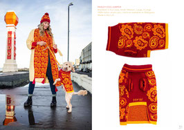 ORANGE PAISLEY DOG JUMPER