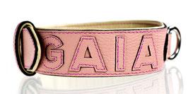 Nappa Halsband rosé/rosé individualisierbar