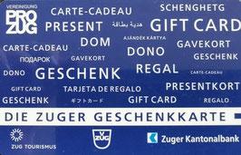 Pro Zug Geschenkkarte Sujet Geschenk