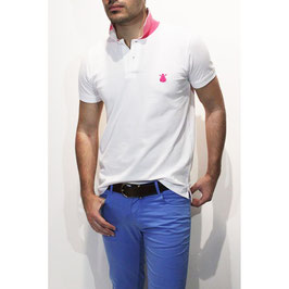 POLO HOMBRE NEW CLASSIC BLANCO  Referencia: 256-CBR