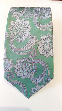 Corbata Cachemir MAESTRANZA.Verde agua.