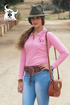 Polo Piqué Rosa  Modelo Tendido