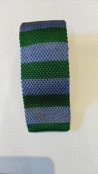 Corbata Crochet MAESTRANZA. Verde/Azul