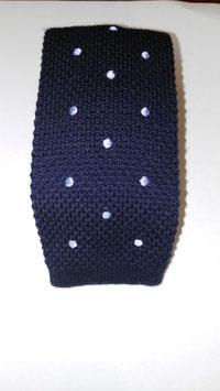 Corbata de Crochet MAESTRANZA. Marino/Topos.