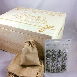 Adventskalender-Kiste mit Gravur
