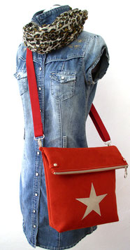 "Cross-Body-Bag ""rot/ sand"""