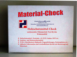 Holzschutzmittel & PCB Material-Check