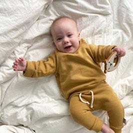 Waffelsweater ocker