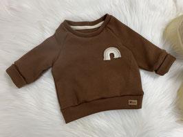 Waffelsweater braun/rainbow