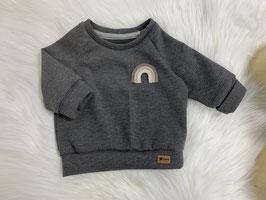 Waffelsweater anthrazit/rainbow