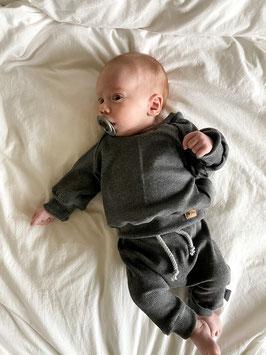 Rib Sweater anthrazit