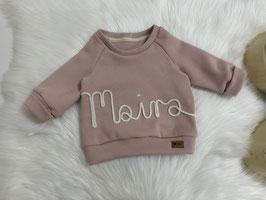 Waffel-Namenssweater rose