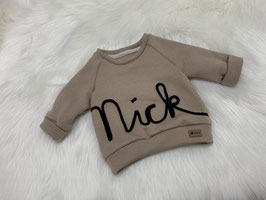 Namenssweater cappuccino