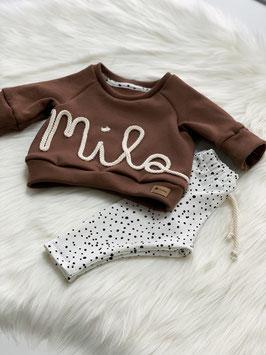 Namenssweater chocolate