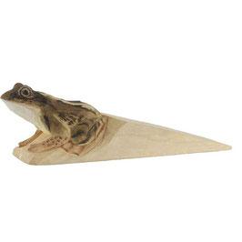 Handgeschnitzter Türstopper Frosch