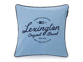 Lexington Kissenhülle Logo blau