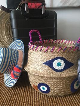 Vanessa Paegler - handbemalter Korb Eyes Blue