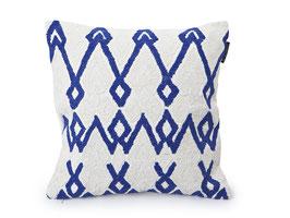 Lexington Kissenhülle Rope Sham blau weiß