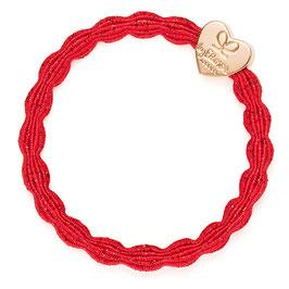 By Eloise London - Gold Heart Metallic | Red