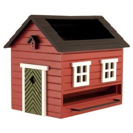 Vogelfutterspender mit Bad Rotes Haus