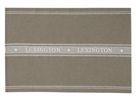 Lexington Geschirhandtuch oliv weiß