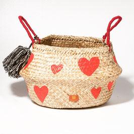 Vanessa Paegler - handbemalter Korb Hearts