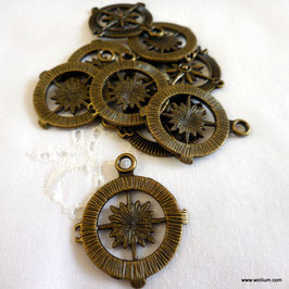 Anhänger Kompass Antik