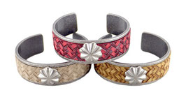 GT-187 / MESH LEATHER BANGLE