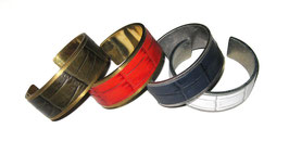 GR-054 / CROCODILE BRASS BANGLE