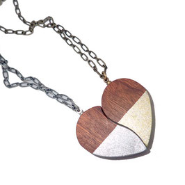 WOODEN HART NECKLACE / GT-181