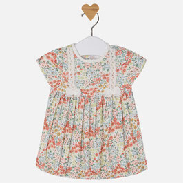 Mayoral ベビー女の子用花柄ドレス/Baby girl short sleeve patterned dress
