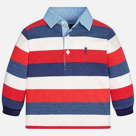 Mayoral 男の子用長袖ポロシャツ/Long sleeve polo shirt
