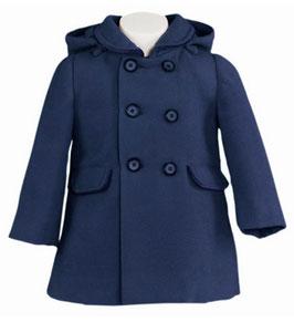 Miranda 女の子用ネイビーブルーのコート/Girls Parker navy blue